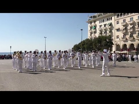 greek navy band plays hit pop song despacito