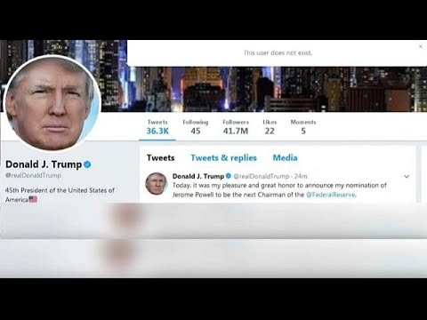 twitter employee deactives trump account