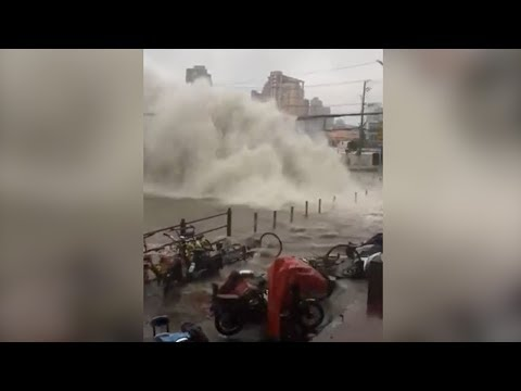 video footage shows water pipe bursts