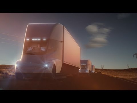 tesla unveils electric semitractortrailer thursday