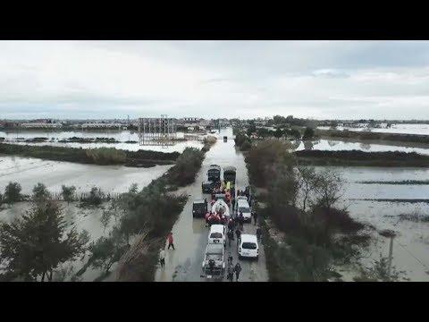 as torrential rain hits albania