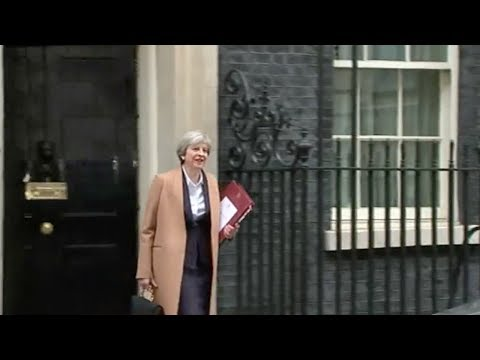 key meeting for british pm may enters
