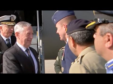 us defense secretary lands in pakistan