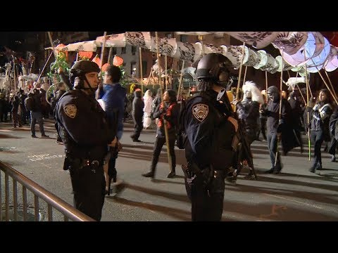 new york halloween parade carries