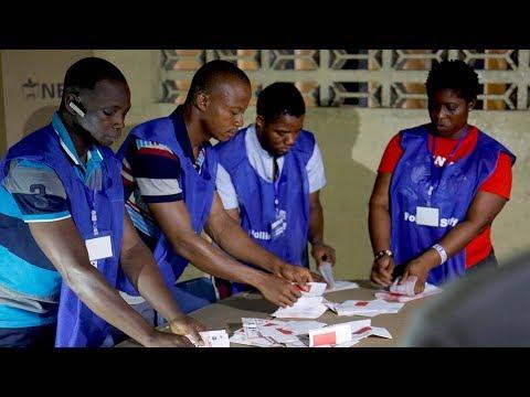 votecounting underway in liberia runoff race