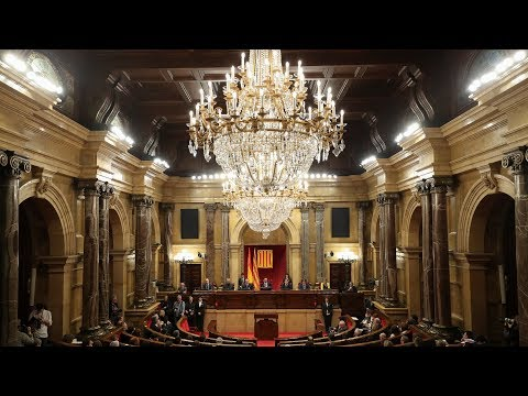catalan parliament meets as sacked leader