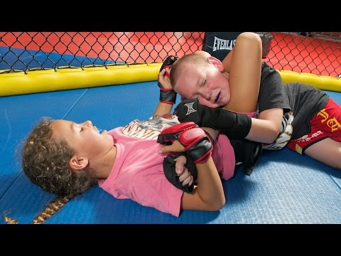 children as young as 4 train in mma