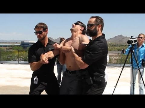 see a taser strike a man in slow motion